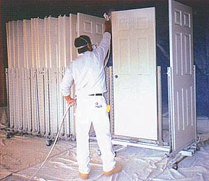Spraying Doors Click Here For Higher Quality Full Size Image
