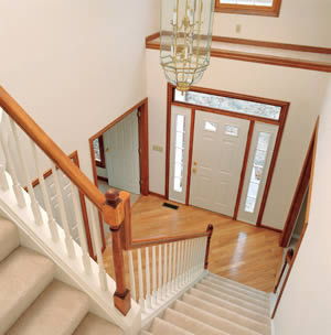 Whtie Stairwell And Foyer