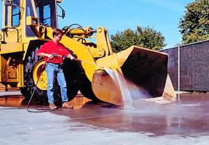 Pressure Washing construction machinary
