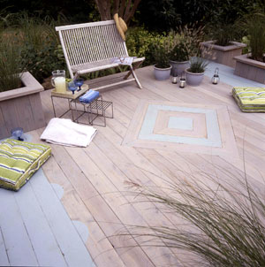 Beach colored deck