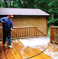 how to clean your deck with bleach