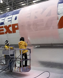 Lift Off used on a FedEx jet