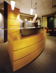 L.C Jergens' cabinetry work in a law office in Seattle