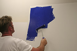 Majestic Blue Shimmer Wall Finish - Step 1