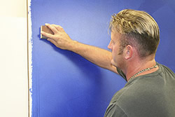 Majestic Blue Shimmer Wall Finish - Step 1a